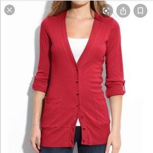 Splendid long red cardigan